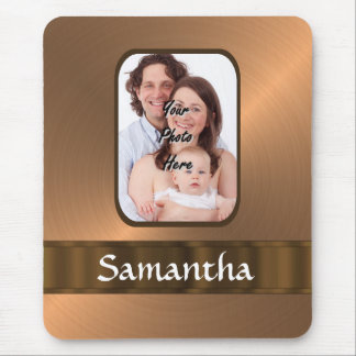 Copper colored photo template mouse pad