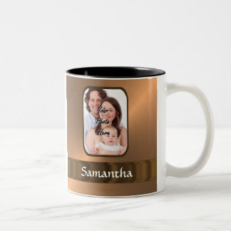 Copper colored photo template Two-Tone coffee mug