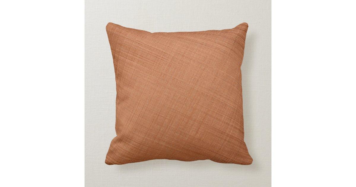 Copper Colored Throw Pillow Zazzle Com