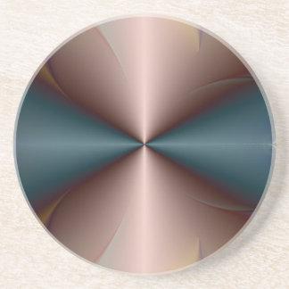 Copper Cones Meet Sandstone Coaster