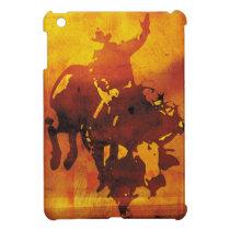 Copper cowboy bull rider ipad mini case