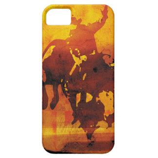 Copper cowboy bull rider iphone 5 case