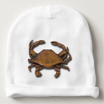 Beach Themed Copper Crab Baby Beanie
