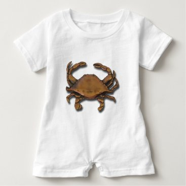 Beach Themed Copper Crab Baby Romper