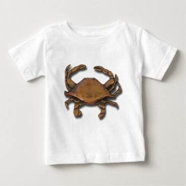 Beach Themed Copper Crab Baby T-Shirt
