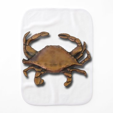 Beach Themed Copper Crab Burp Cloth