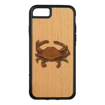 Beach Themed Copper Crab Carved iPhone 7 Case