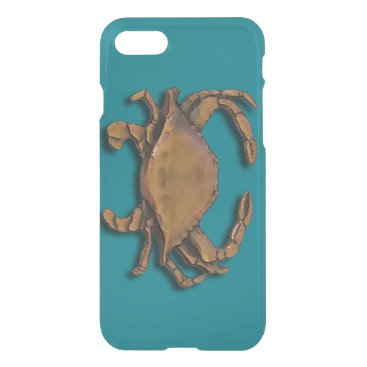 Beach Themed Copper Crab iPhone 7 Case