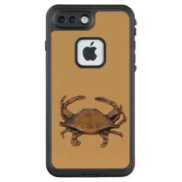 nautical_gifts Copper crab LifeProof FRĒ iPhone 7 plus case