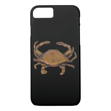 nautical_gifts Copper crab on black iPhone 7 case