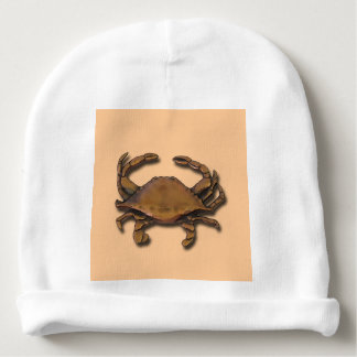 Copper Crab on Cream Baby Beanie