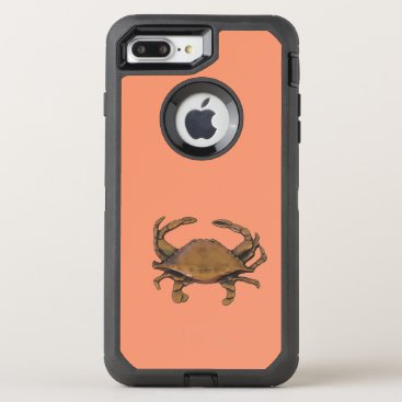 nautical_gifts Copper crab OtterBox defender iPhone 7 plus case