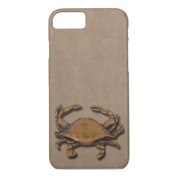 nautical_gifts Copper Crab Sand iPhone 7 Case