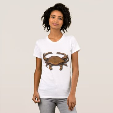 Beach Themed Copper Crab T-Shirt