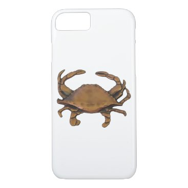 nautical_gifts Copper Crab White Background iPhone 7 Case