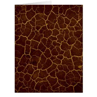 Copper Crackle Card