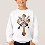 Copper Cross with Crossed Swords Sweatshirt