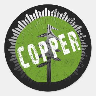 Copper Decay Logo Classic Round Sticker