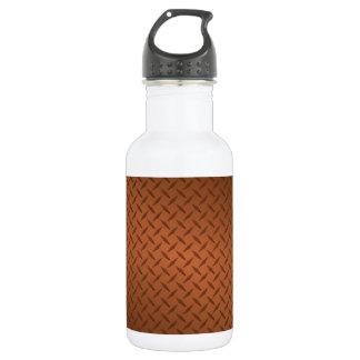 Copper Diamondplate Look Pattern 18oz Water Bottle