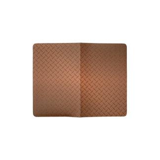 Copper Diamondplate Pattern Look Pocket Moleskine Notebook Cover With Notebook