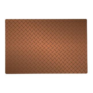 Copper Diamondplate Pattern Look Placemat