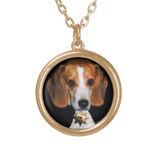 Copper Dogula memorial piece necklace