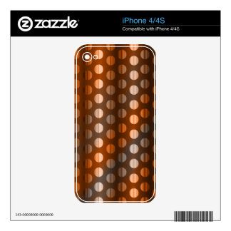 Copper Dots Decals For iPhone 4S