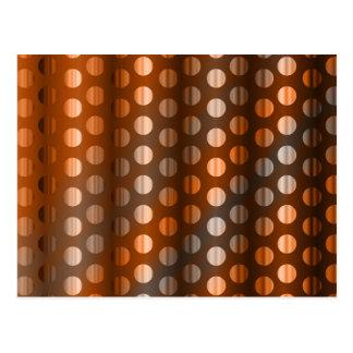Copper Dots Postcard