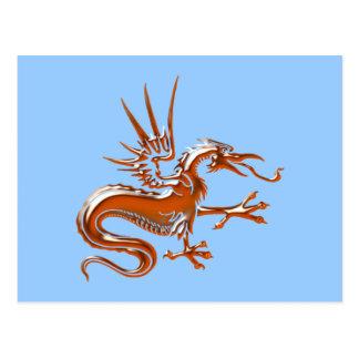 Copper dragon copilot by dragon post cards