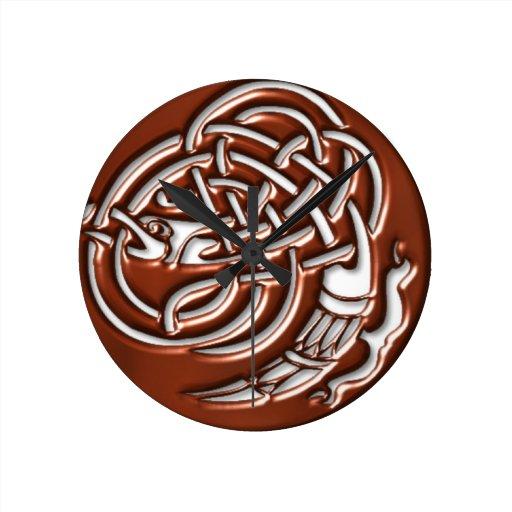 Copper Dragon Knot Clock
