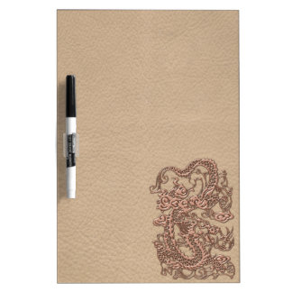 Copper Dragon on Shell Leather Texture Dry Erase White Board