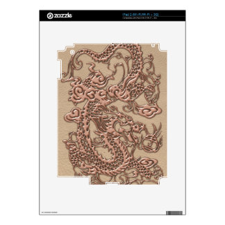Copper Dragon on Shell Leather Texture iPad 2 Skin