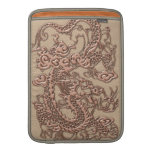 Copper Dragon on Shell Leather Texture MacBook Air Sleeves