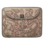 Copper Dragon on Shell Leather Texture Sleeve For MacBooks