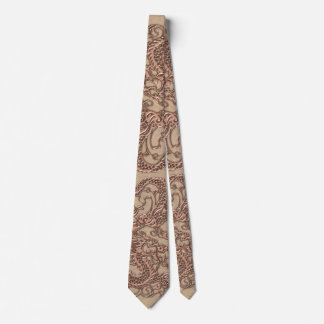 Copper Dragon on Shell Leather Texture Tie