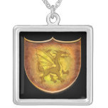 Copper Dragon Pendant Necklace