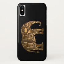 Copper Elephant Circuit Board iPhone X Case