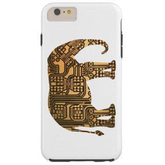 Copper Elephant Circuit Board Tough iPhone 6 Plus Case