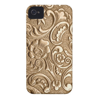 Copper embossed floral pattern. iPhone 4 Case-Mate case