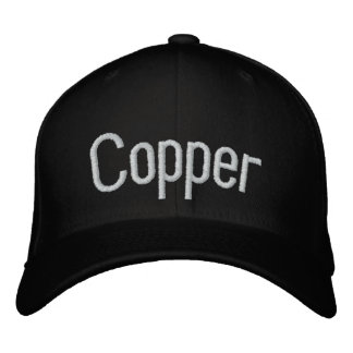 Copper Embroidered Baseball Hat