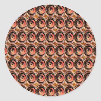 Copper Energy Beads : Embossed Foil Art Classic Round Sticker