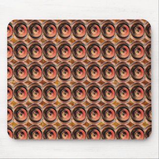 Copper Energy Beads : Embossed Foil Art Mouse Pad