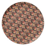 Copper Energy Beads : Embossed Foil Art Party Plate
