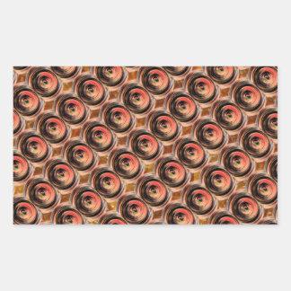 Copper Energy Beads : Embossed Foil Art Rectangular Sticker