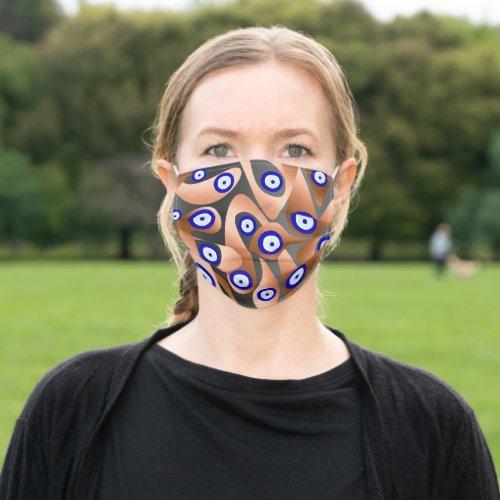 Copper Evil Eyes Cloth Face Mask
