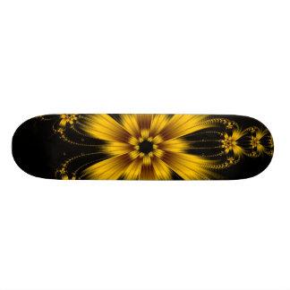 Copper Flower Burst Skateboard