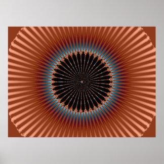 Copper Fractal Poster