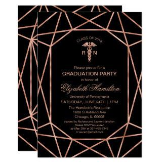 Copper Gem Medical Nursing School Graduation Party Card