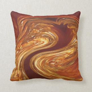 Copper & Glass Throw Pillow