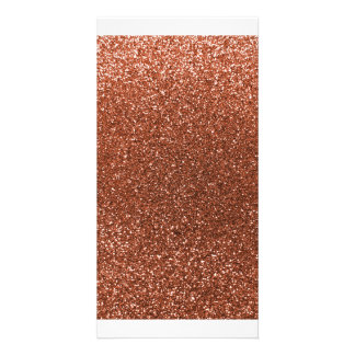 Copper glitter photo cards